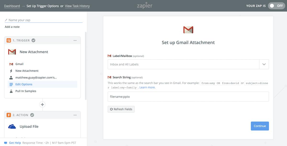 Zapier Gmail presentation