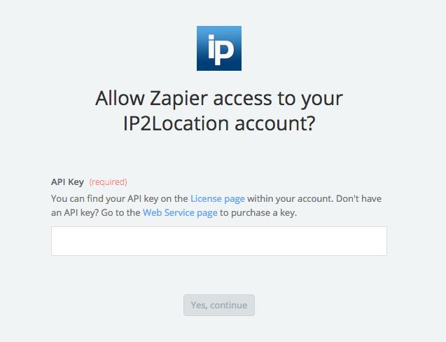 IP2Location API Key