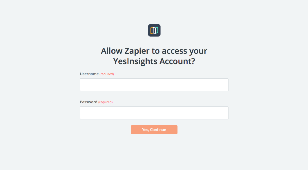YesInsights username and password