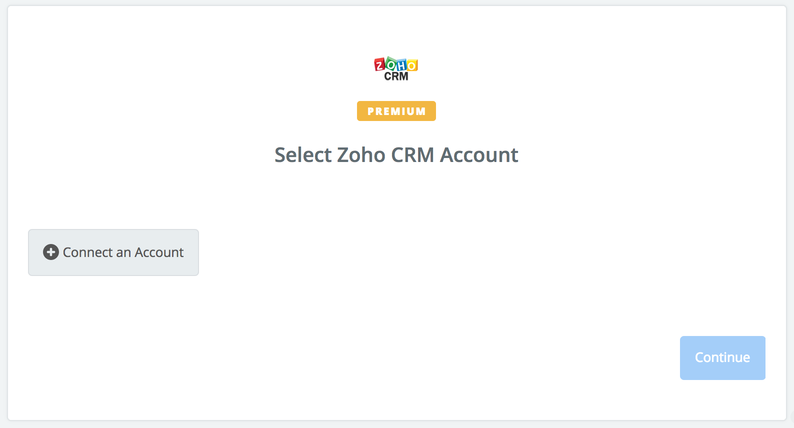 Connect your ZohoCRM account to Zapier