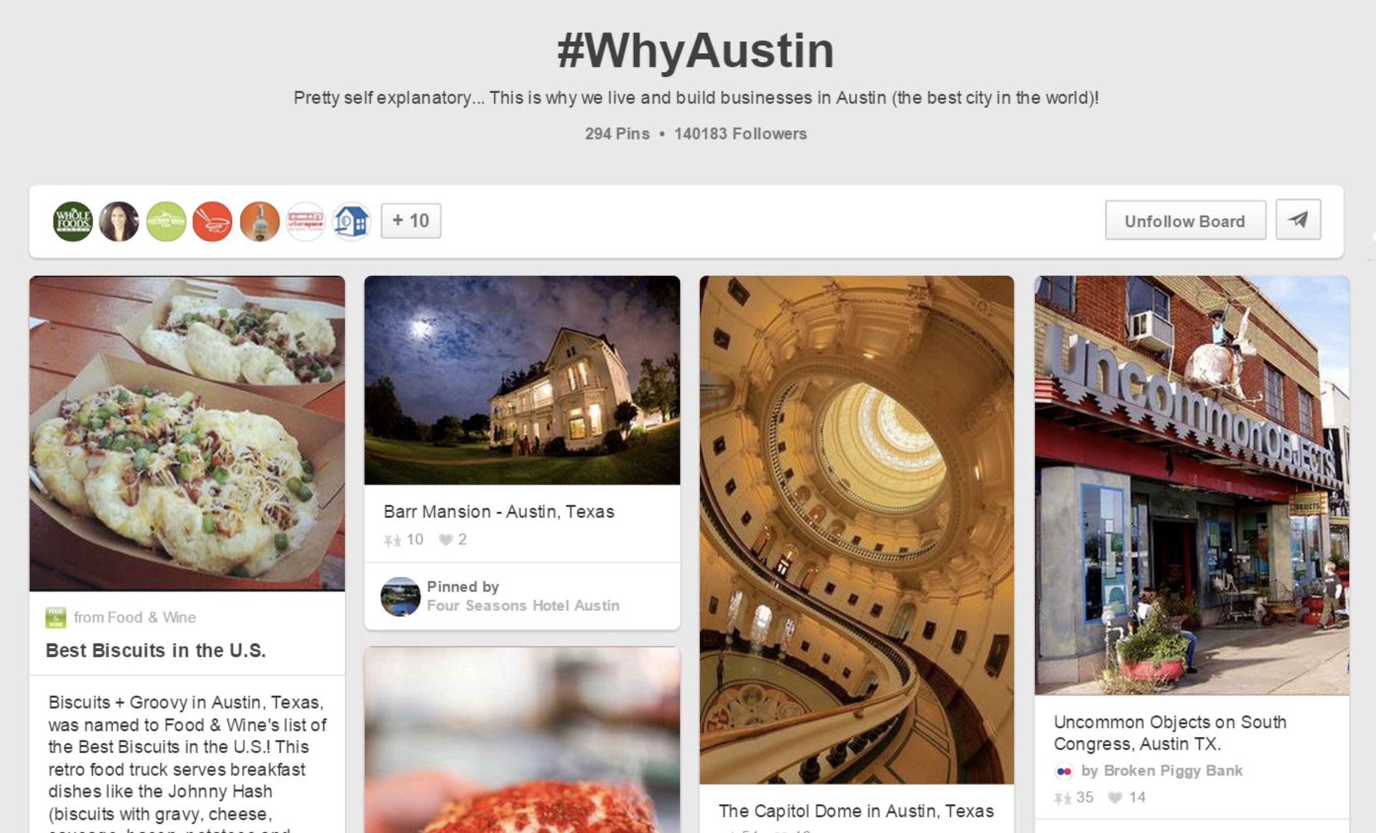 Why Austin collaborative Pinterest board