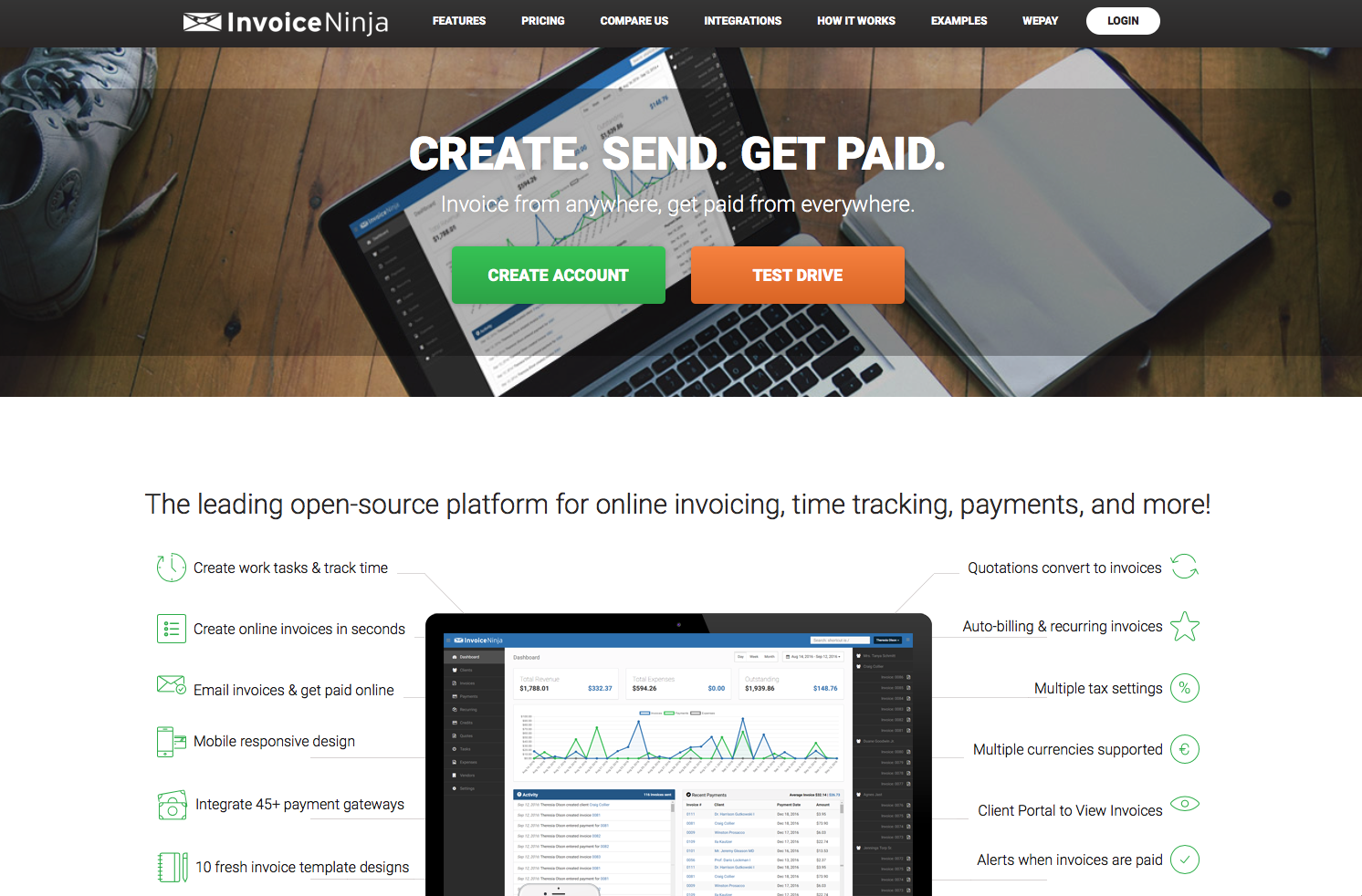Invoice Ninja Features Pricing Alternatives And More Zapier - Open source invoice
