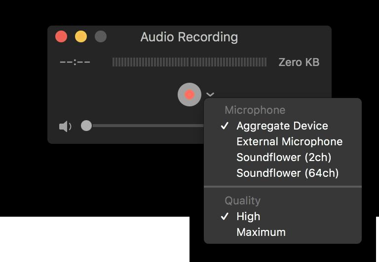 QuickTime Record Audio