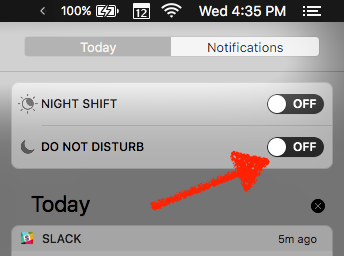 Mac Do Not Disturb mode