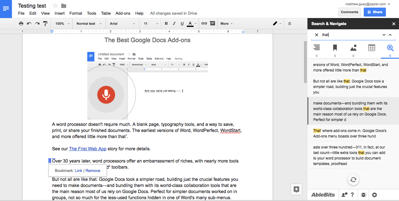 The 32 best google docs add ons in 2017 free download for Google docs download storage