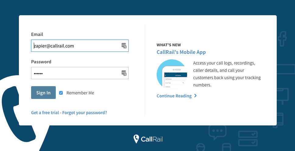 Login to CallRail