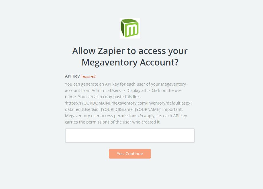 Megaventory API Key