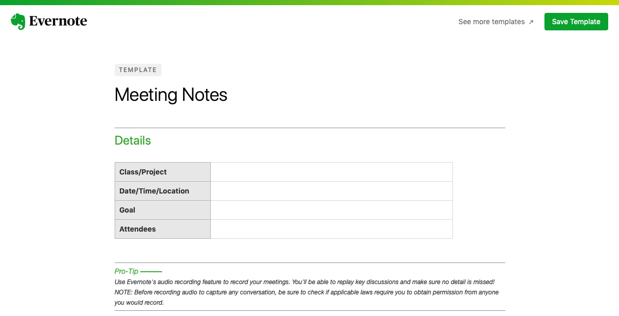How to use evernote templates to quickly make new notes how to do add new evernote template note maxwellsz
