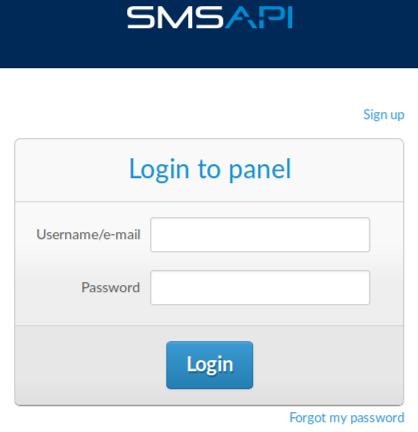 Provide account credentials