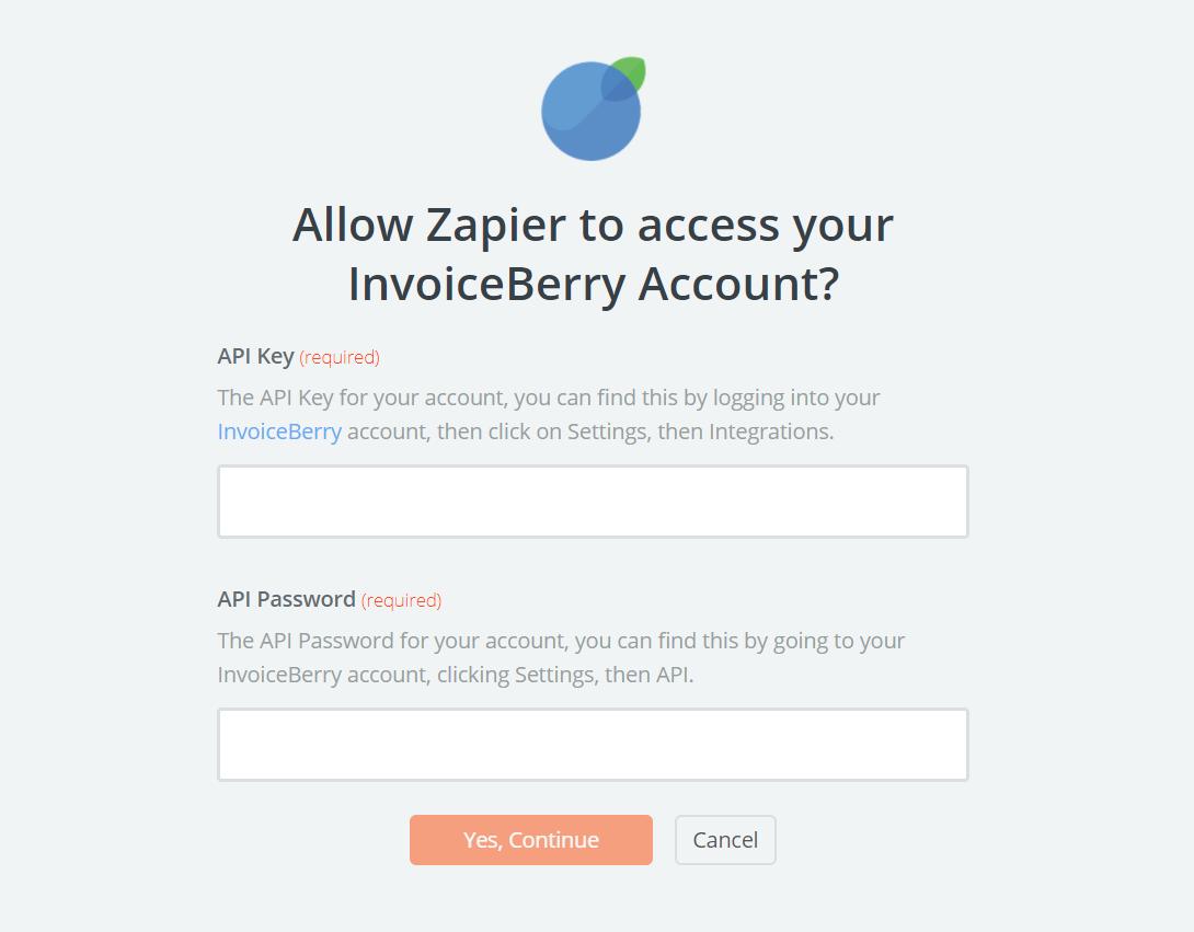 InvoiceBerry API Key