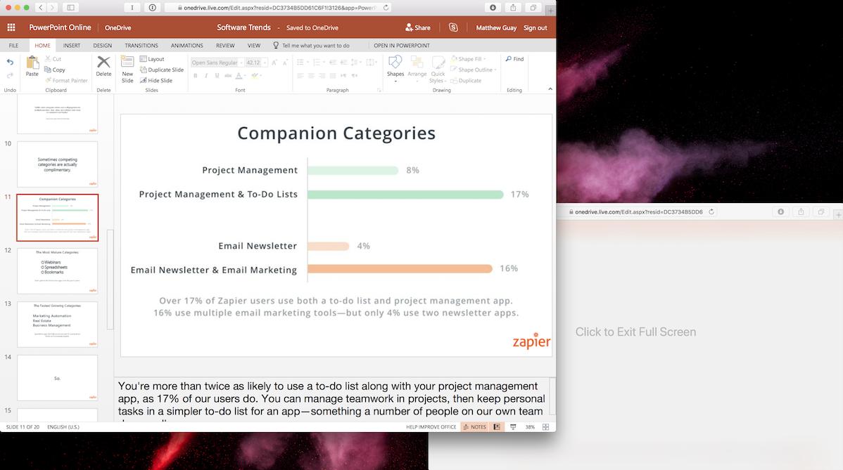 Slide Notes in PowerPoint Online