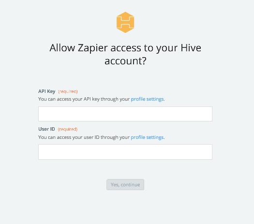Hive API Key