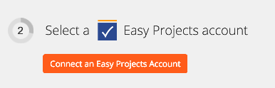 Click to connect Easy Projects