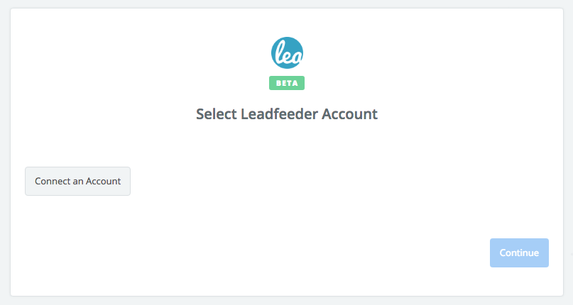 Click to connect Leadfeeder