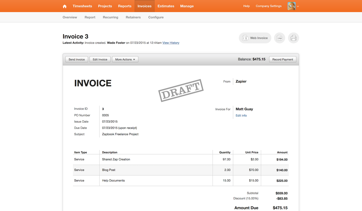Harvest Features Pricing Alternatives And More Zapier - Harvest invoice software