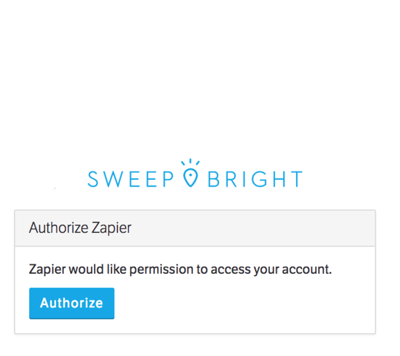 Login to SweepBright