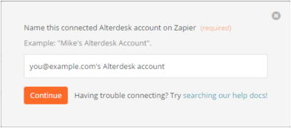Name your Alterdesk account