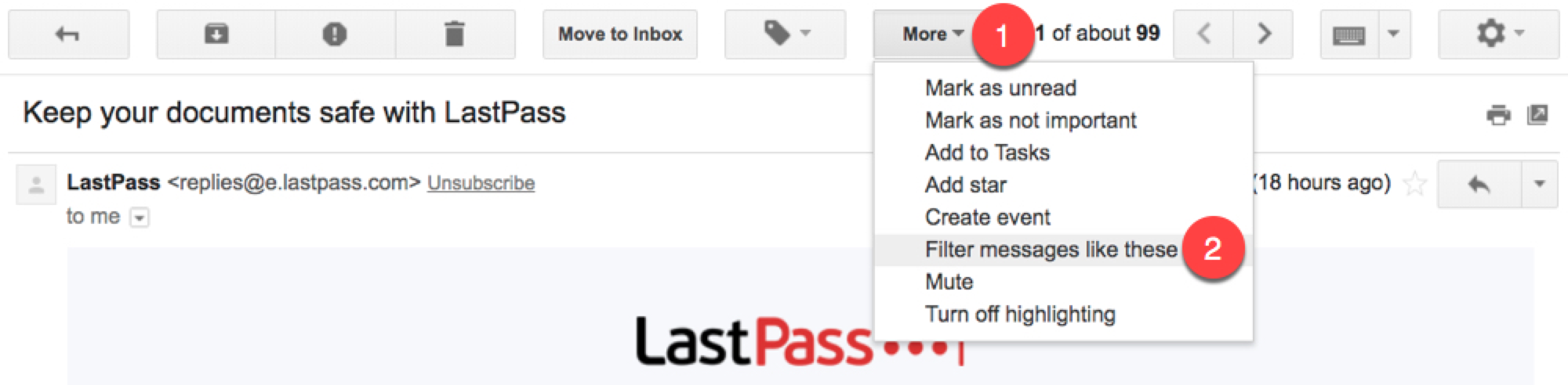 Filter Gmail messages