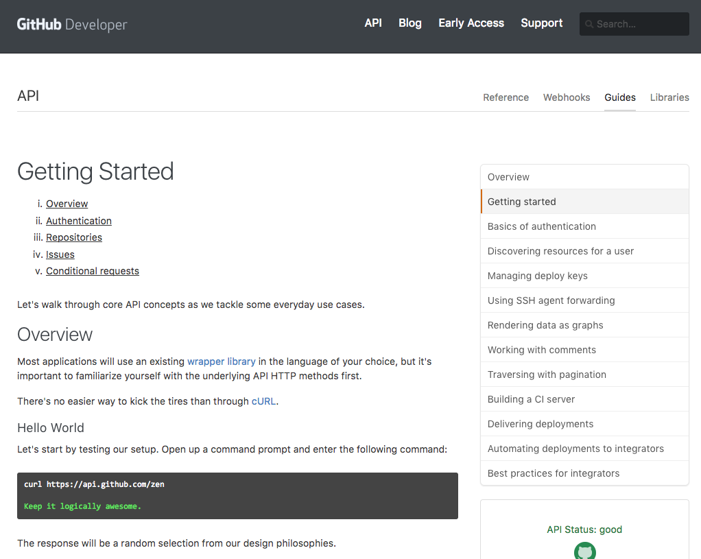 GitHub getting started guide