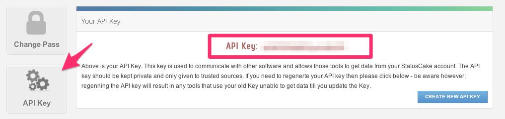 Grab your StatusCake API Key