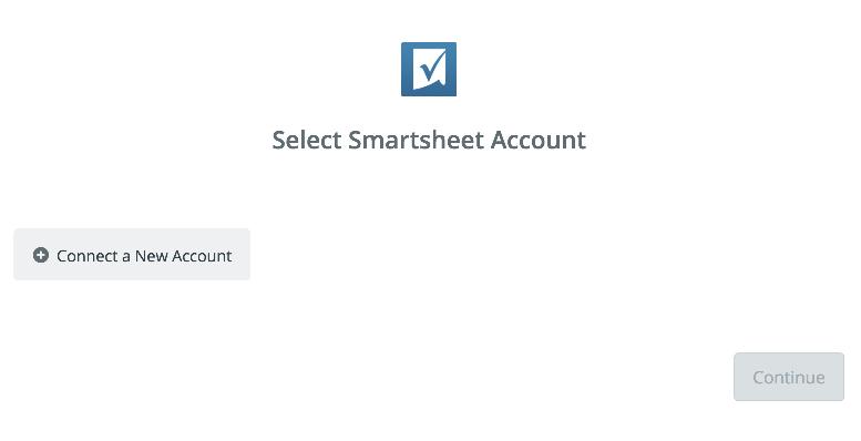 Click to connect Smartsheet