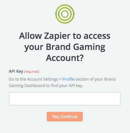 Brand Gaming API Key