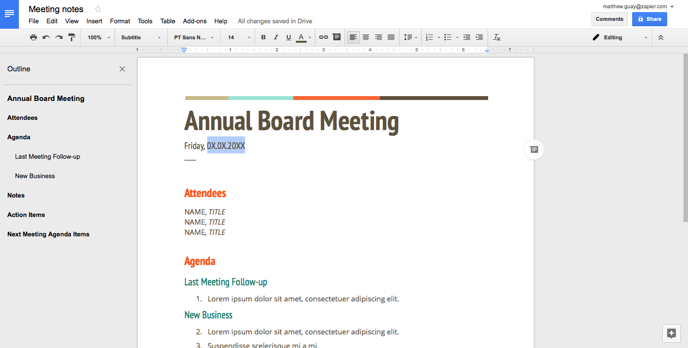 How to create a fillable template in google docs how to for Google sites faq template