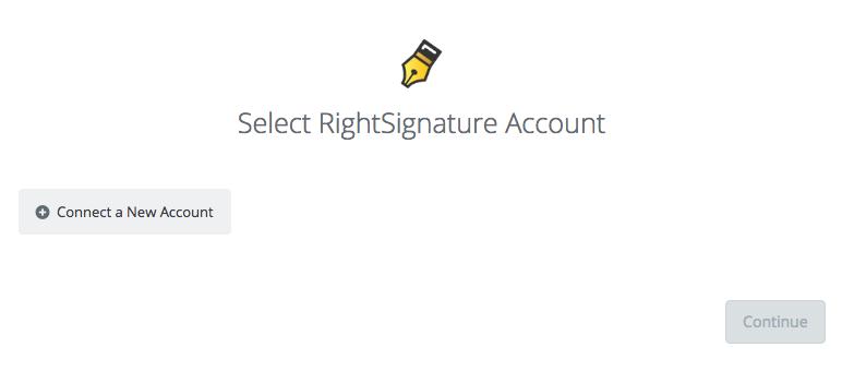Click to connect RightSignature