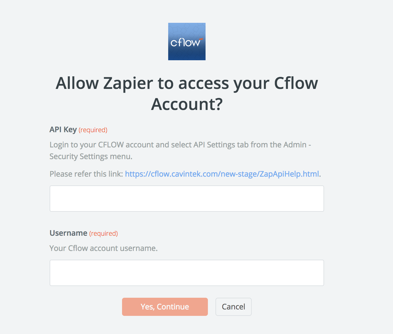 Cflow API Key