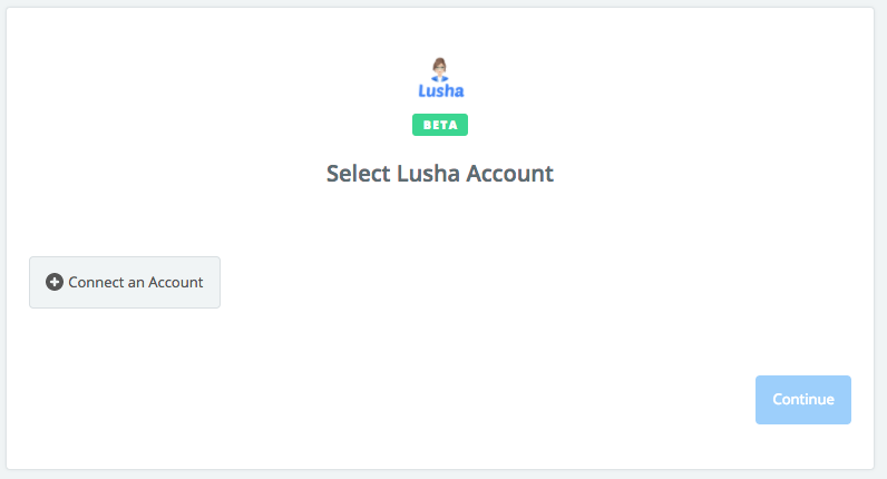 Click to connect Lusha