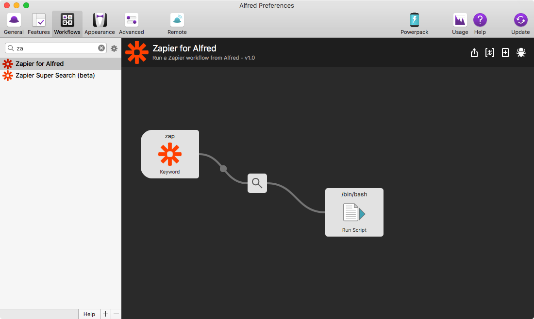 Zapier for Alfred