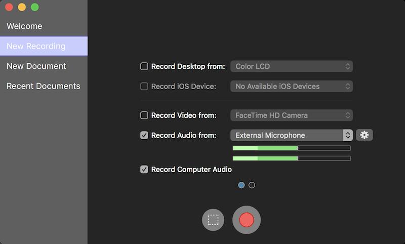 Screenflow record