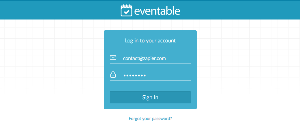 Login to Eventable