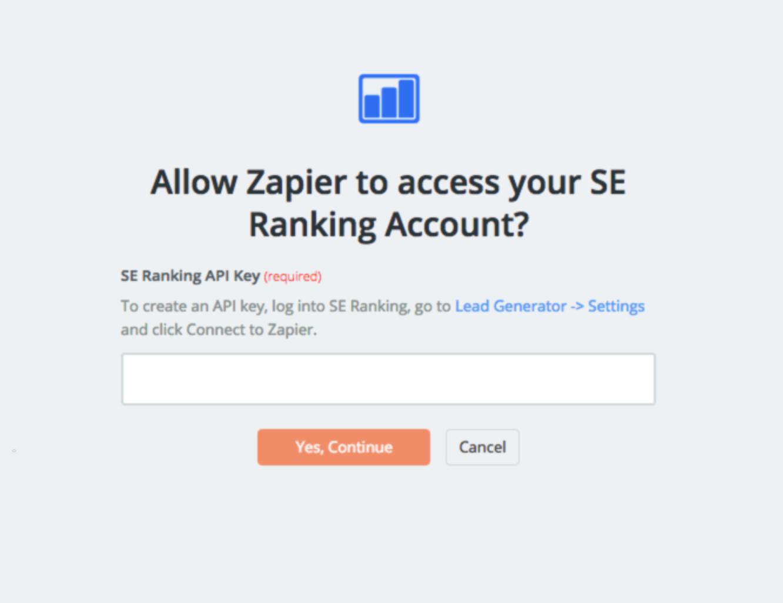 SE Ranking - Integration Help & Support | Zapier