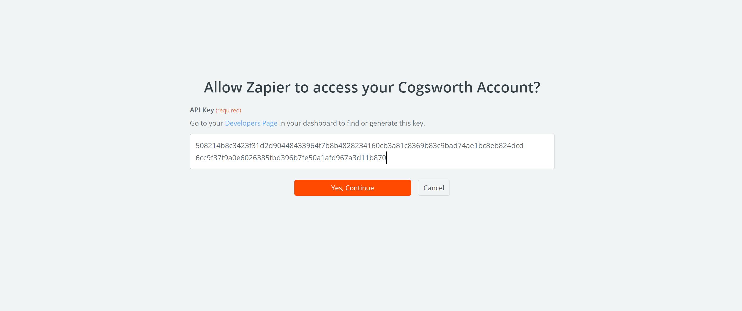 Cogsworth API Key