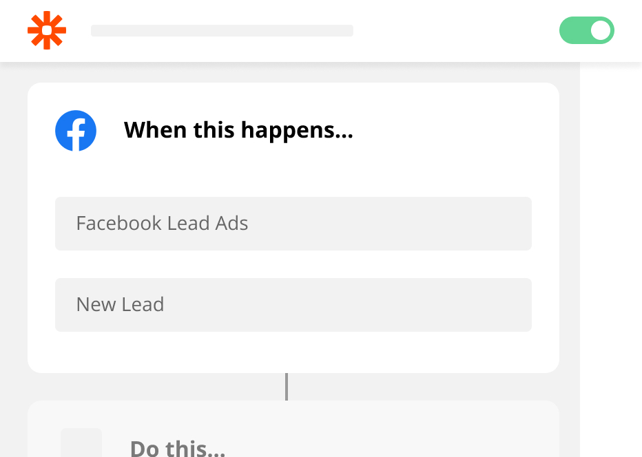 When a new lead is created in Facebook Lead Ads