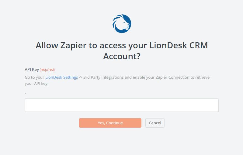 LionDesk API Key