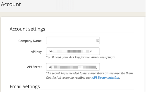ConvertKit API Key in APP account