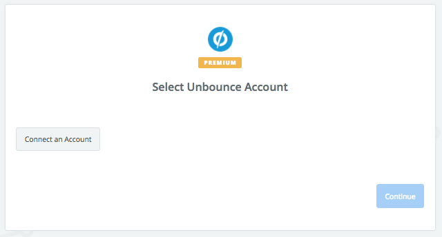 Click to connect Unbounce