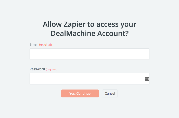 DealMachine username and password