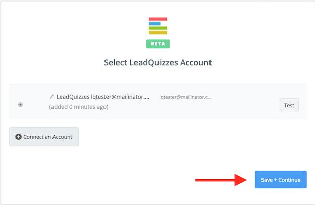LeadQuizzes connection successful