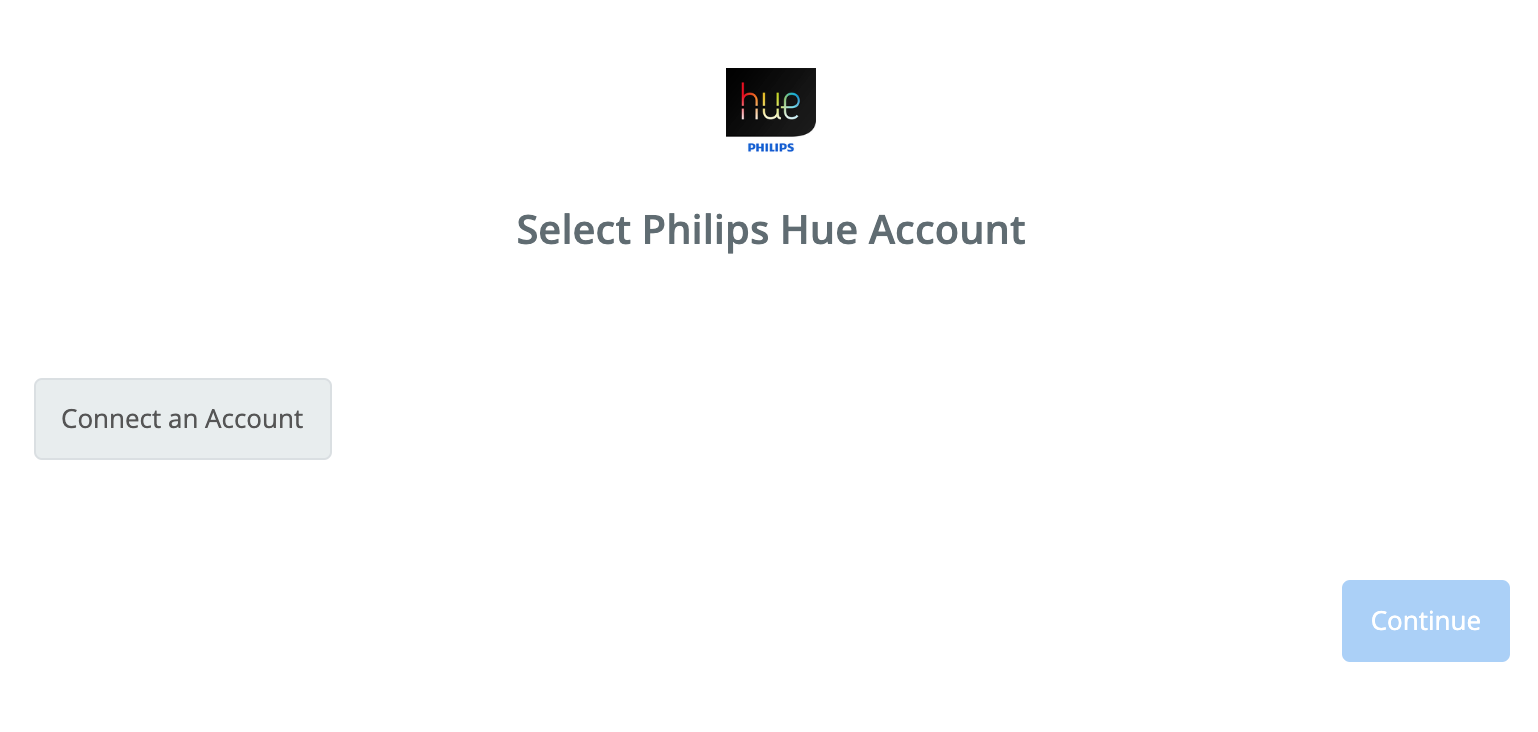Click to connect Philips Hue