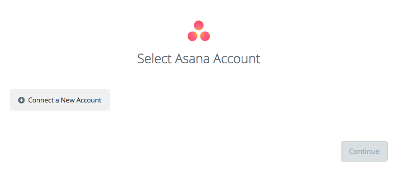 Select Asana Account