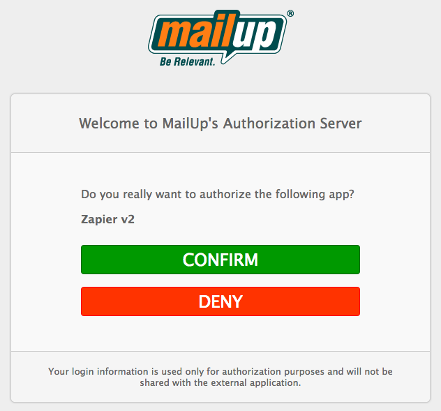 MailUp Authorize