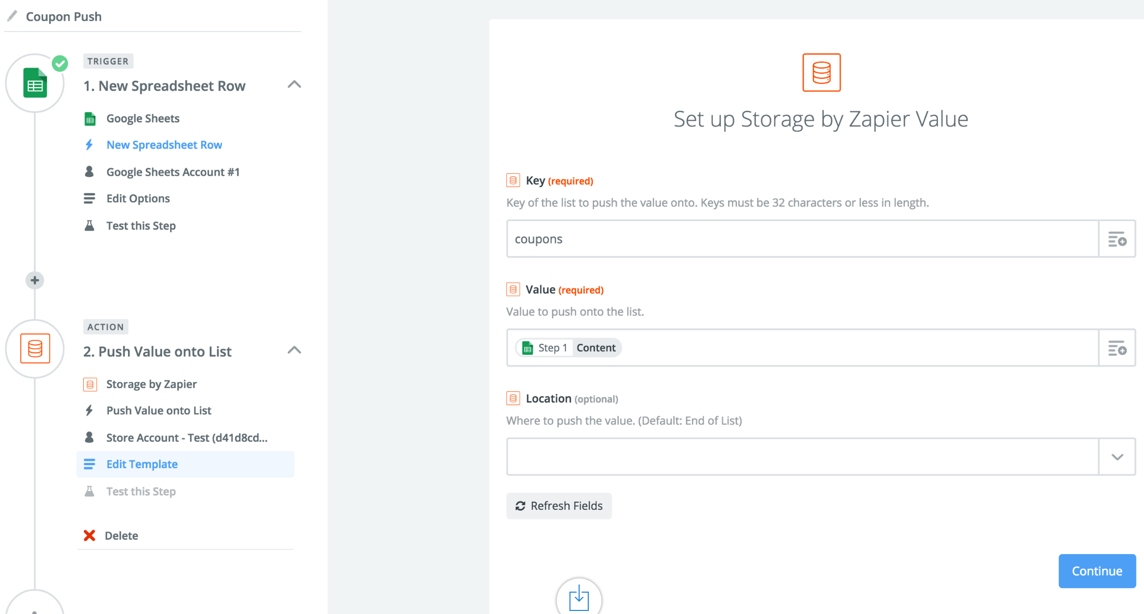 Storage Integration Help Support Zapier – Coupon Sheet Template