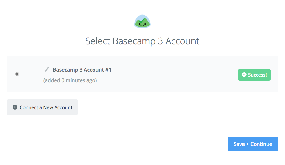 Basecamp 3 connection successfull