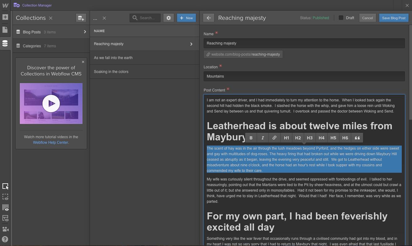 Webflow Screenshot Examples & Demo Videos | Zapier