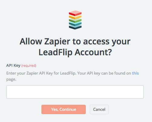LeadFlip API Key