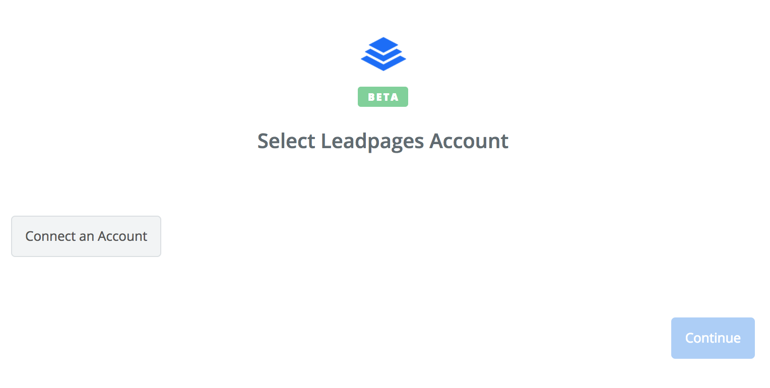 Click to connect Leadpages