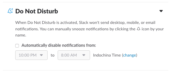 Slack do not disturb